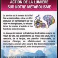 L'action de la lumière et luminothérapie sur le corps