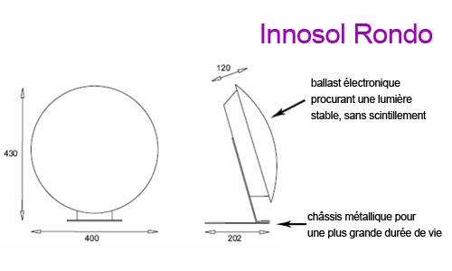 Appareil de luminothérapie Innosol Rondo